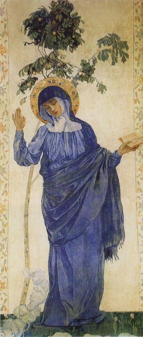 The Annunciation. Virgin Mary. 1910-1911