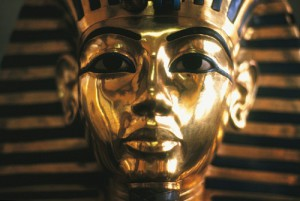Tutankhamun. Pharaoh of Egypt. Died in 1323 B.C. at age 18 or so, possibly from malaria