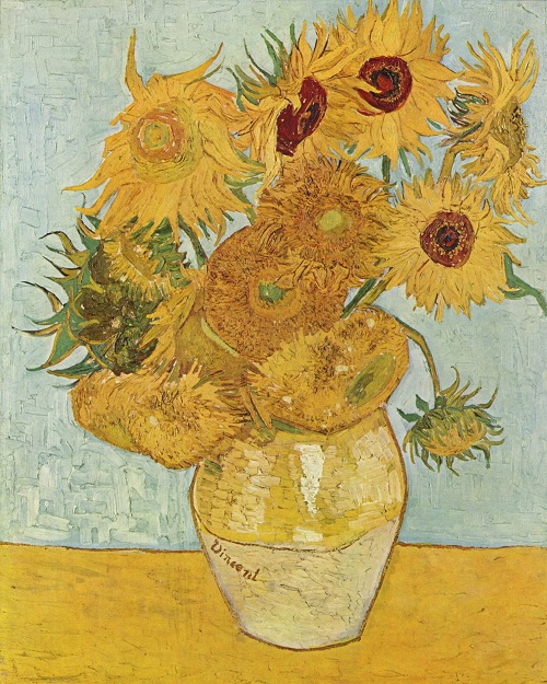 "Vincent Van Gogh ""Sunflowers"" (1888, Oil on canvas, National Gallery, London)"