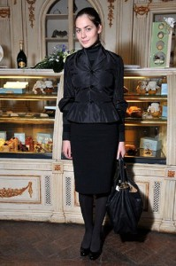 Yuliya Snigir, Russian actress in restaurant Cafe Pushkin