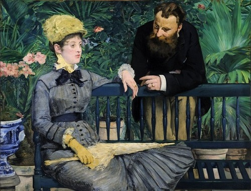 "Edouard Manet ""in the conservatory"" (Location 	Alte National galerie, Berlin)"
