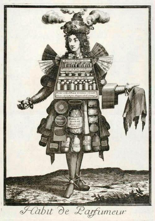 Perfumer. French seventeenth-century grotesque costumes