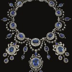 sapphire and diamond necklace by Mellerio dits Meller, circa 1870. From the Collections of Princess Marie Bonaparte and Princess Eugenie of Greece and Denmark.