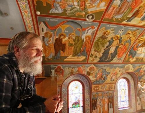 Orthodox church painted by Priest Theodore Jurewicz