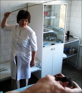 Medical spankings in Siberia