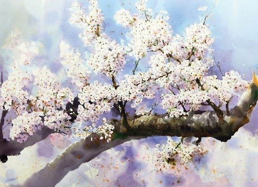 Watercolors by Korean artist Jong Sik Shin