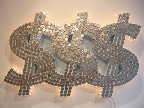 Money art from Justine Smith