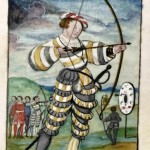 Schwartz is 22. He is the fashionable young man of his time involved in competitions in archery