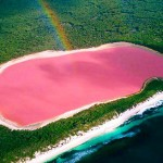 Pink lake Hillier