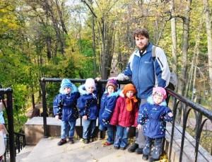 Dmitry and his five daughters - Elizaveta, Alexandra, Nadezhda, Tatiana and Varvara