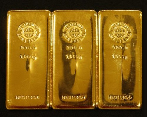 gold bars from the store Ginza Tanaka in Tokyo