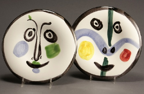 Plates. Painting by Pablo Picasso.