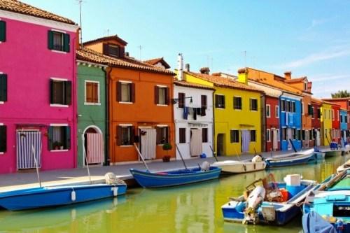 The island of Burano, Venice, Italy