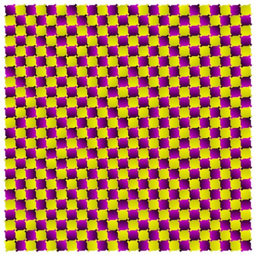 Kaleidoscope of colors in optical illusions by Professor Akiyoshi
