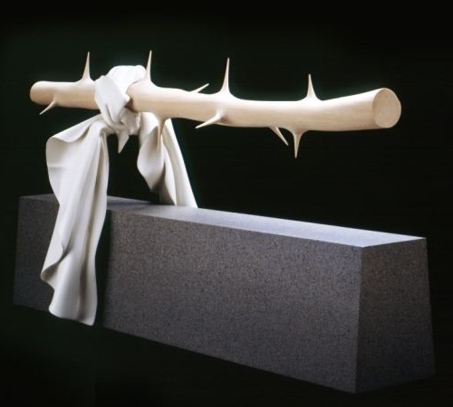 Hyperrealistic wooden sculpture by professor Tom Eckert