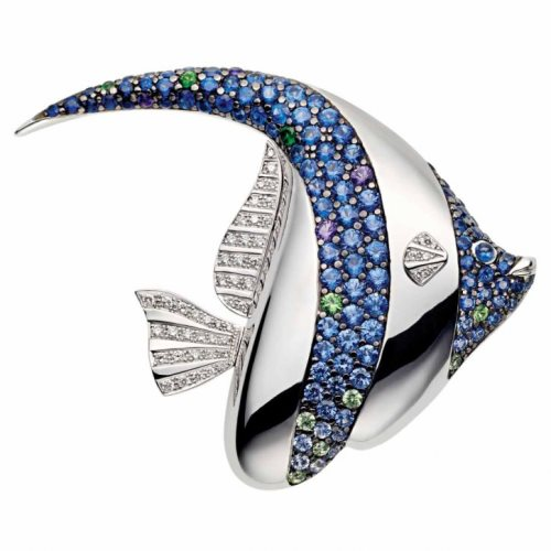 Pendant from Rodney Rayner, 18K white gold, sapphires and diamonds
