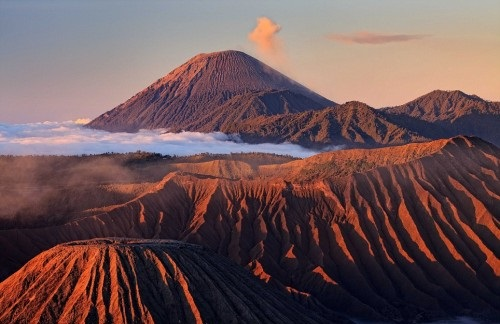 The volcano is part of the Bromo Tengger Semeru National Park which attracts thousands of visitors to East Java every year