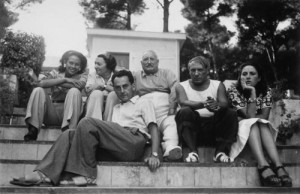 Ady, Marie Cuttoli, her husband, Man Ray, Picasso and Dora Maar, photographed by Man Ray in the South of France, 1937 (photo by Man Ray)