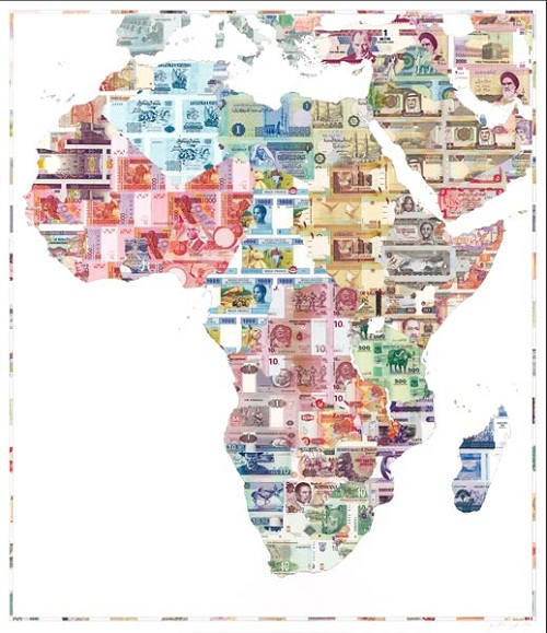 money map of Africa
