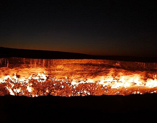 The Gates of Hell in Turkmenistan