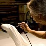 Hyperrealistic wooden sculpture by professor Tom Eckert