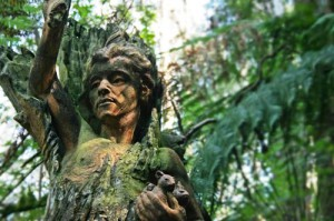 William Ricketts Sanctuary is located on Mt Dandenong Tourist Road Mt. Dandenong