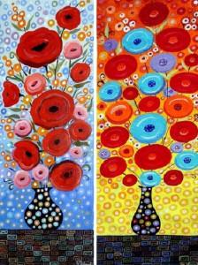 Colorful painting by Indian decorative artist Debarati Sarkar