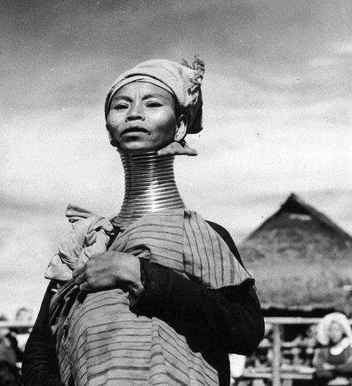 A Padaung, or Kayan woman