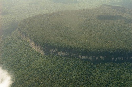 Another famous tepuis — Auyantepui with the Angel Falls — the tallest waterfall in the world.