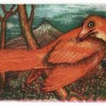 'Archaeopteryx' - Small three colour mezzotint.