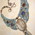 Bead embroidery by Olga Orlova. Fairy Tale Necklace