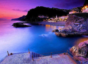 Breathtaking Sunset over the Shores of Madeira Island in Portugal