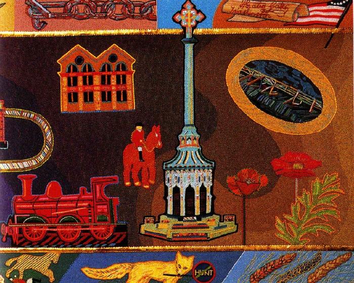 Handmade tapestry, detail