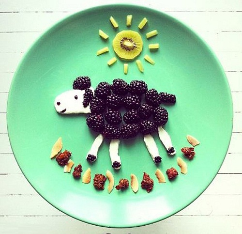 Lamb of blackberries