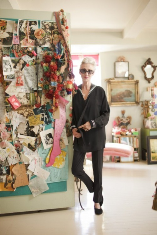 NYC stylist and model Linda Rodin