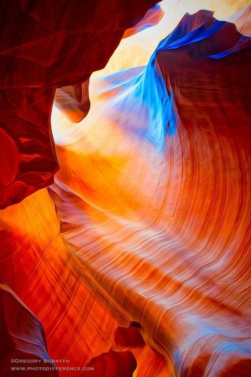 Beautiful colors of Antelope Canyon