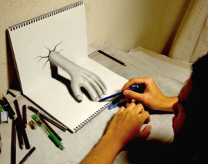 Realistic 3-D drawings by Japanese artist Nagai Hideyuki