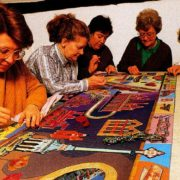 Some of local craftswomen working on tapestry
