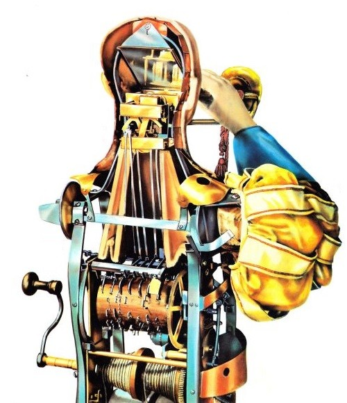 The Trumpeter in Spanish costume had leather bellows for lungs and reeds which imitated the sound of a brass instrument