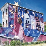 The background Mural is in St Laurent du Var, France