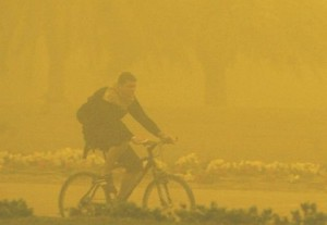 The term dust storm is more likely to be used when finer particles are blown long distances, especially when the dust storm affects urban areas