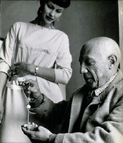 Vivianna Torun Bülow-Hübe-and-Pablo Picasso