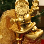 Gold Santa Claus