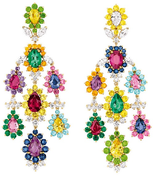 Cher Dior Exquise Pink Sapphire earrings