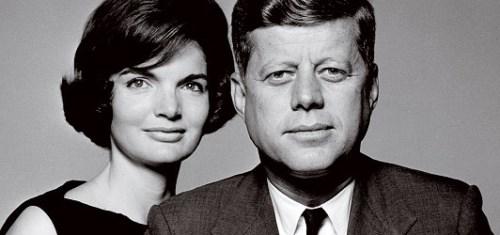 Jackie and John F Kennedy