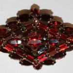 Weiss vintage retro rhinestone sparkle costume jewel
