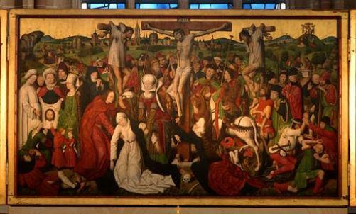 Dortmund, Westfalen, Propsteikirche, altar, crucifixion