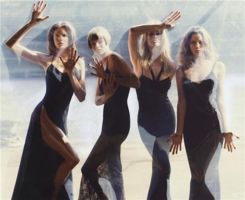Stephanie Seymour, Linda Evangelista, Claudia Schiffer and Christy Turlington, Vogue August 2006