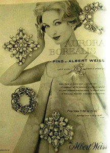 Albert Weiss vintage jewelry poster