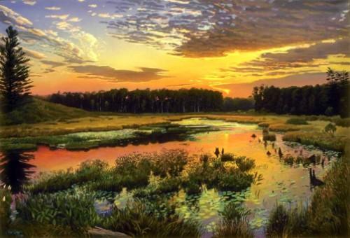Arthur Chartow beautiful landscape painting